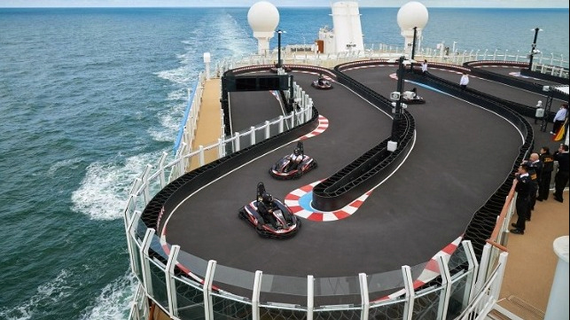 Norwegian Bliss go-carts
